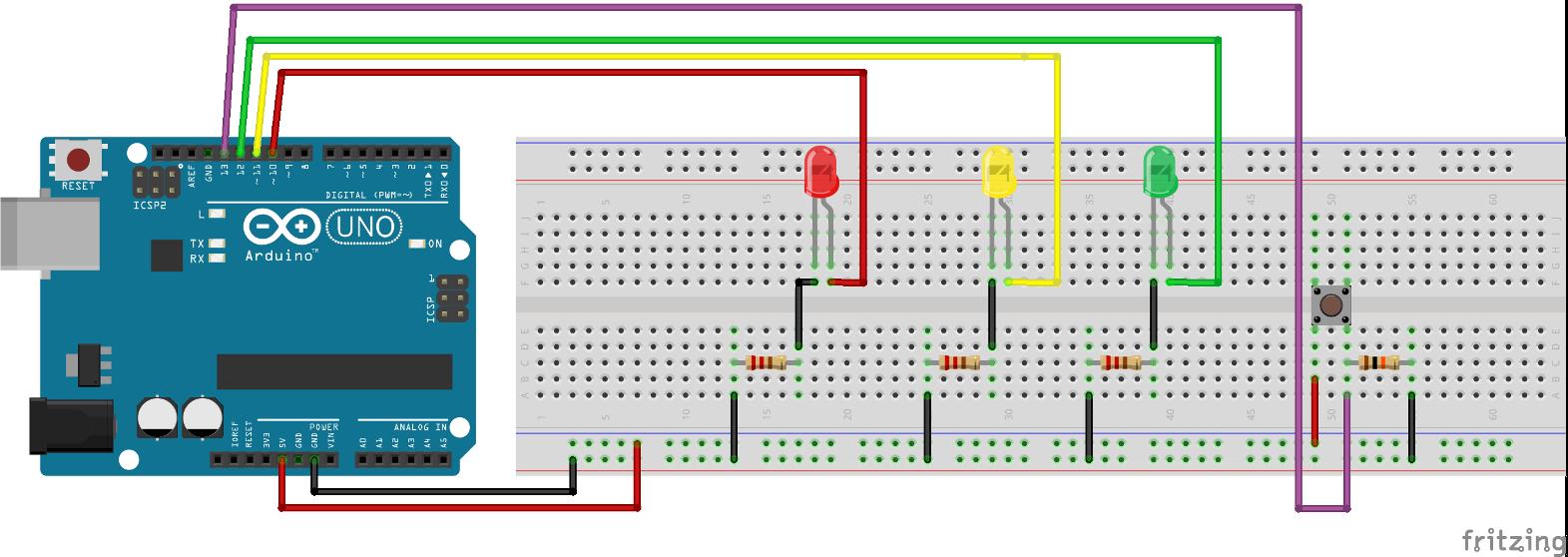 un esempio con arduino un classico semaforo con un traffic light circuit using 555 timer traffic light circuit project for 5th grade