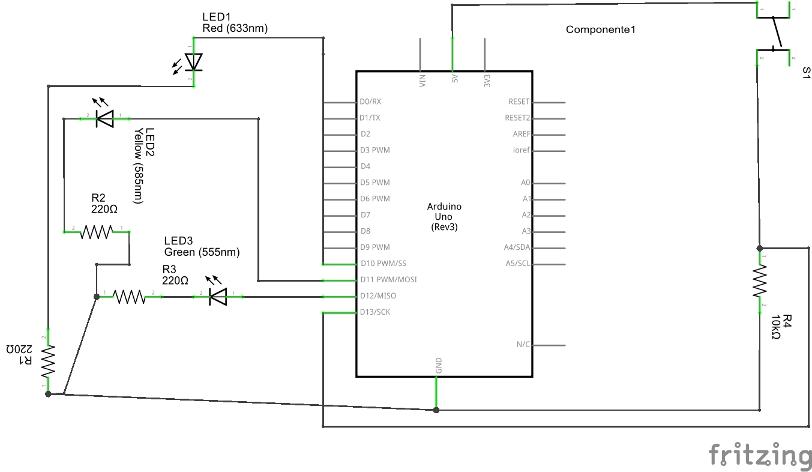 Schema Elettrico Pulsante : Un esempio con arduino classico semaforo